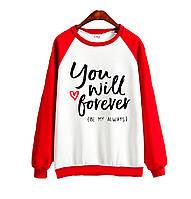 Джемпер  YOU WILL FOREVER красный+белый, XXXL