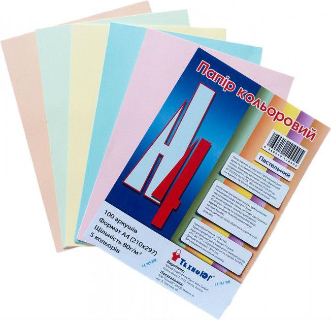 Бумага А4 Mini ассорти,  пастель,100 листов