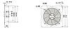 Вентиляторы осевые ф250 мм 9 лопастей (220 В) нагнетающие и всасывающие, фото 2