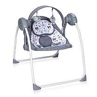 Кресло-качалка серого цвета  питание от сети и батареек Lorelli PORTOFINO GREY 19 для новорожденного