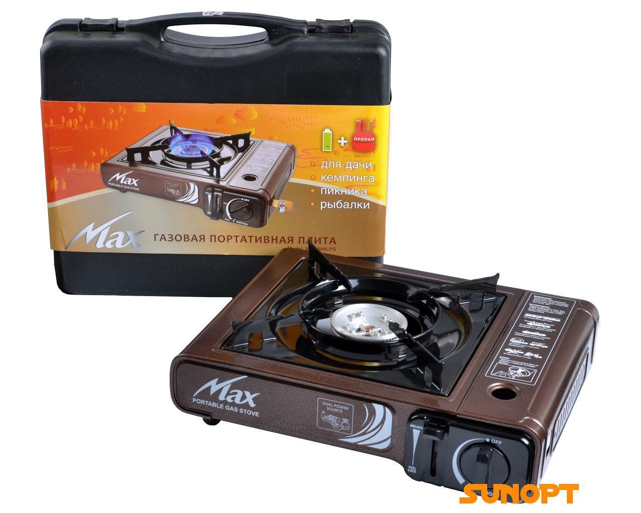 Газовая Портативная Плита MS-2500LPG (Корея, коричневая)