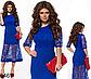 Вечернее платье миди с сеткой (красный) 826469, фото 2