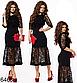 Вечернее платье миди с сеткой (красный) 826469, фото 3