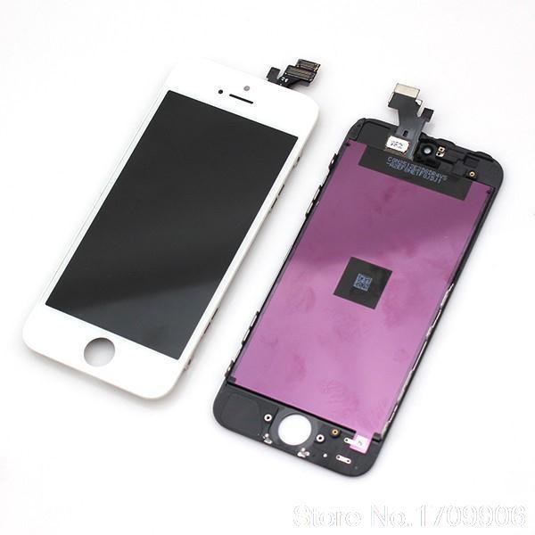Дисплей модуль iPhone 5s в зборі з тачскріном білий, оригінал