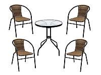 САДОВАЯ МЕБЕЛЬ. Стол + 4 кресла