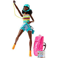 """Кукла Барби афро-американка, серия """"Двигайся как я - Отдых на природе"""" (Barbie Made to Move FNY37)"""