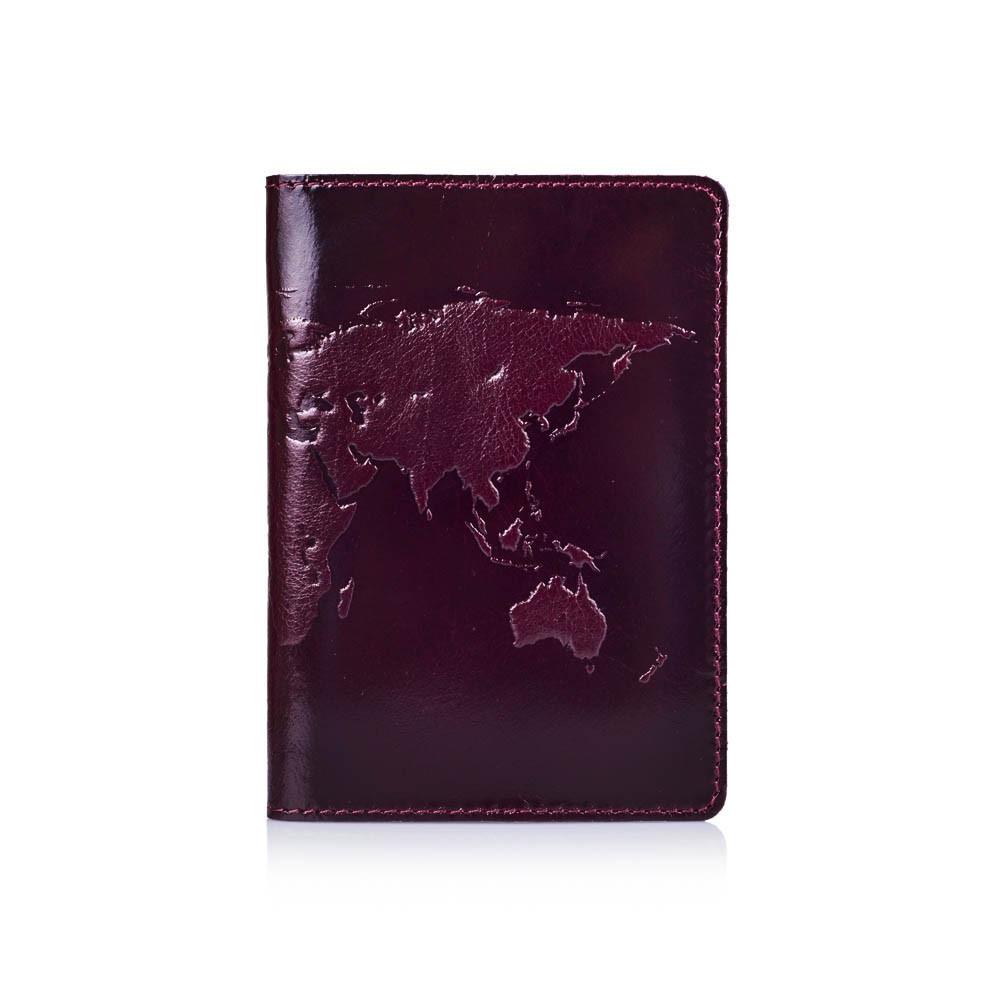Обложка для паспорта HiArt Crystal Sangria World Map