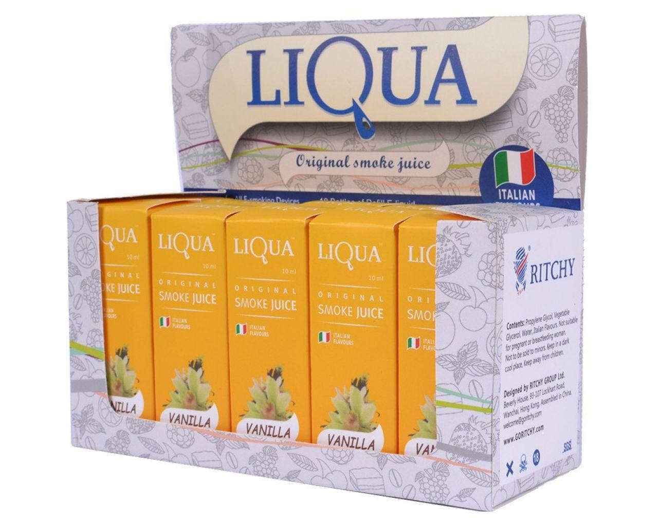 Жидкость для электронной сигареты LIQUA 10мл VANILLA №4743