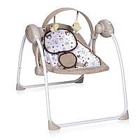 Кресло-качалка бежевая питание от сети и батареек Lorelli PORTOFINO BEIGE 19 для новорожденного