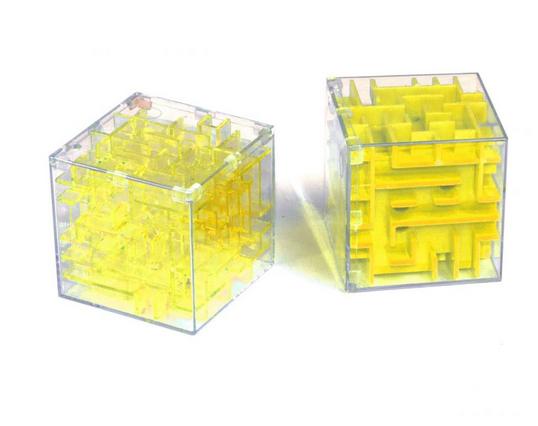 Головоломки кубик Рубика.Развивающие игрушки.Лабиринт в кубе.Куб лабиринт с шариком.