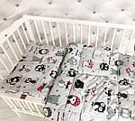 """Детский комплект одеяло и подушка для новорожденного  принт """"Совушки"""", фото 2"""