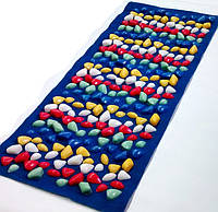 Массажный коврик с цветными камнями 100 х 40 см
