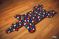 Массажный коврик массажер с цветными камнями Медведь (р.100х50см)