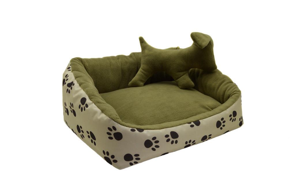 Лежак для собак и котов Глория бежевый №2 380х450х210