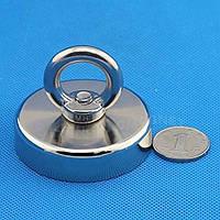 Магнит поисковый с кольцом неодимовый D60 мм 112кг