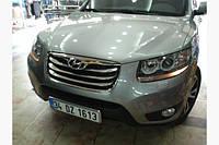 Накладка на решетку (2010-2012, 4 шт, нерж.) Hyundai Santa Fe 2 2006-2012 гг.