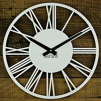 Настінні Годинники Glozis Rome White B-023 35х35