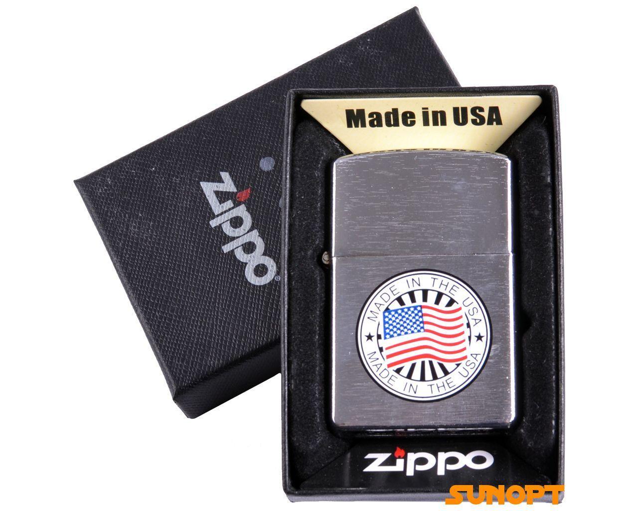 "Зажигалка бензиновая Zippo ""USA"" №4737-1"