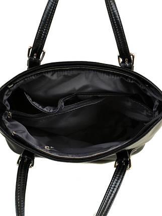 Сумка Женская Классическая иск-кожа М 180 Z-ka лак black, фото 2