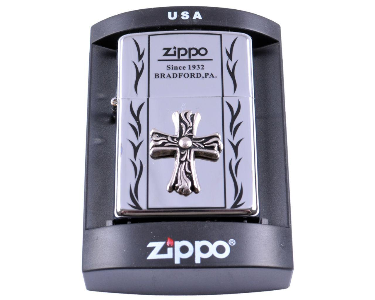 Зажигалка бензиновая Zippo BRADFORD,PA. №4234-3