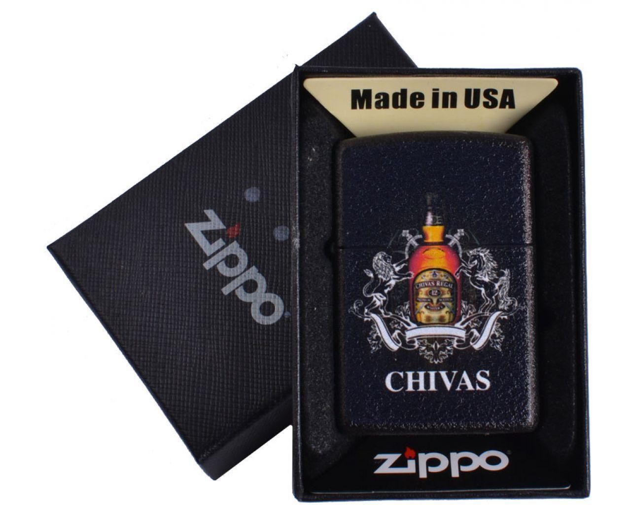 Зажигалка бензиновая Zippo CHIVAS в подарочной упаковке №4740-2