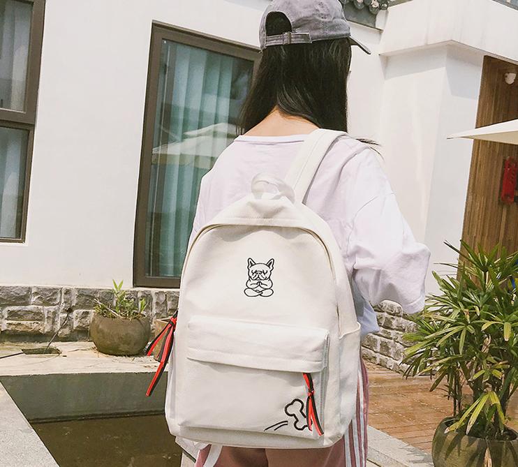 Рюкзак молодёжный белый