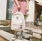 Рюкзак молодёжный белый, фото 2