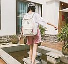 Рюкзак молодёжный белый, фото 3