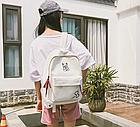 Рюкзак молодёжный белый, фото 4