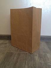 Крафт-пакет с прямоугольным дном 320*150*380 бурый, фото 3