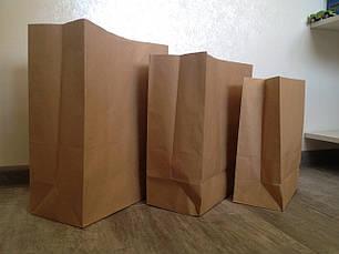 Крафт-пакет с прямоугольным дном 320*150*380 бурый, фото 2