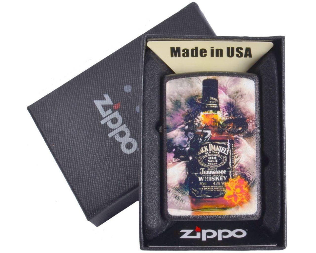 Зажигалка бензиновая Zippo Jack Daniels в подарочной упаковке №4736