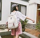 Рюкзак молодёжный белый, фото 6