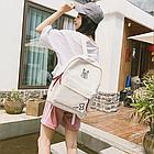 Рюкзак молодёжный белый, фото 7