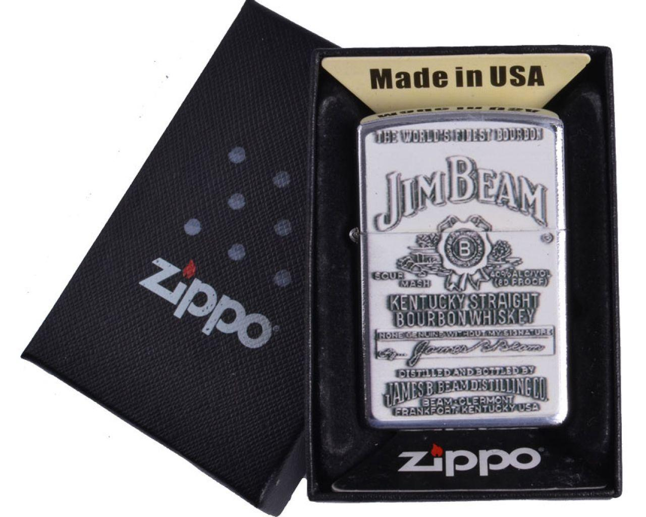 Зажигалка бензиновая Zippo Jim Beam в подарочной упаковке №4741-4