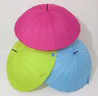 Зонт-трость на 24 спицы  механика однотонная