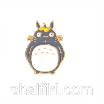 """Тоторо (Мой сосед Тоторо / My neighbor Totoro)"" значок (пин) металлический"