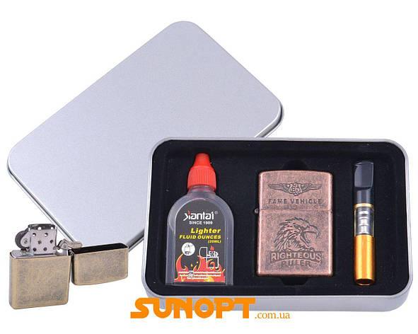 Зажигалка бензиновая в подарочной коробке (Баллончик бензина/Мундштук) RIGHTEOUS RULER №XT-3865-6, фото 2