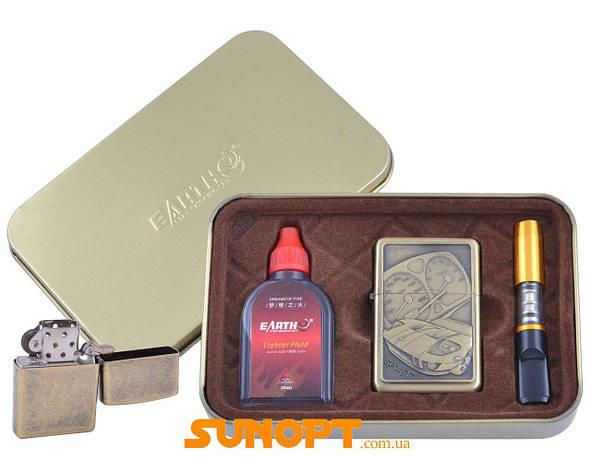 Зажигалка бензиновая в подарочной коробке (Баллончик бензина/Мундштук) Гонки №XT-4931-1, фото 2