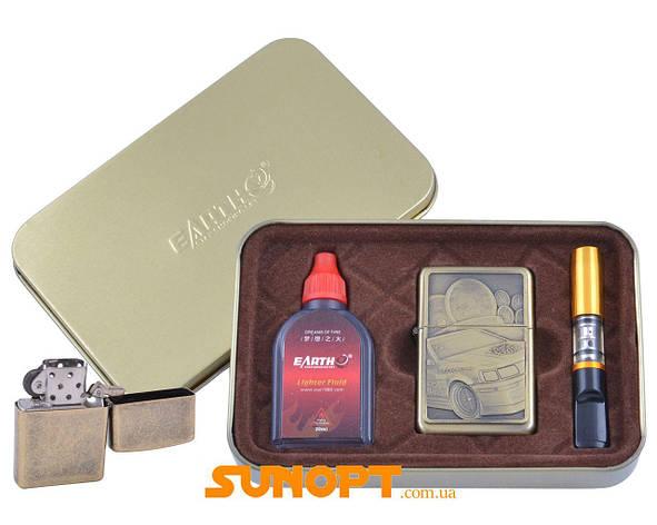 Зажигалка бензиновая в подарочной коробке (Баллончик бензина/Мундштук) Гонки №XT-4931-3, фото 2