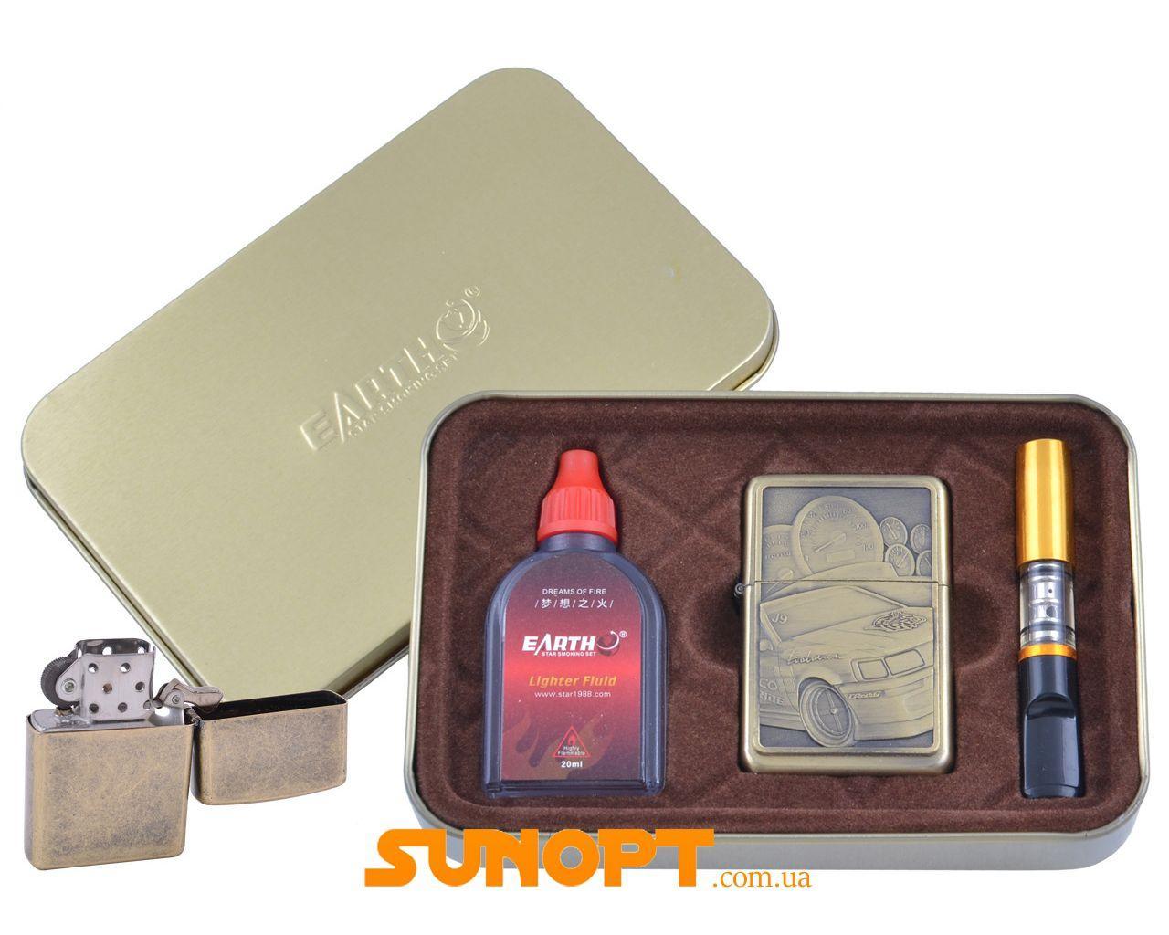 Зажигалка бензиновая в подарочной коробке (Баллончик бензина/Мундштук) Гонки №XT-4931-3