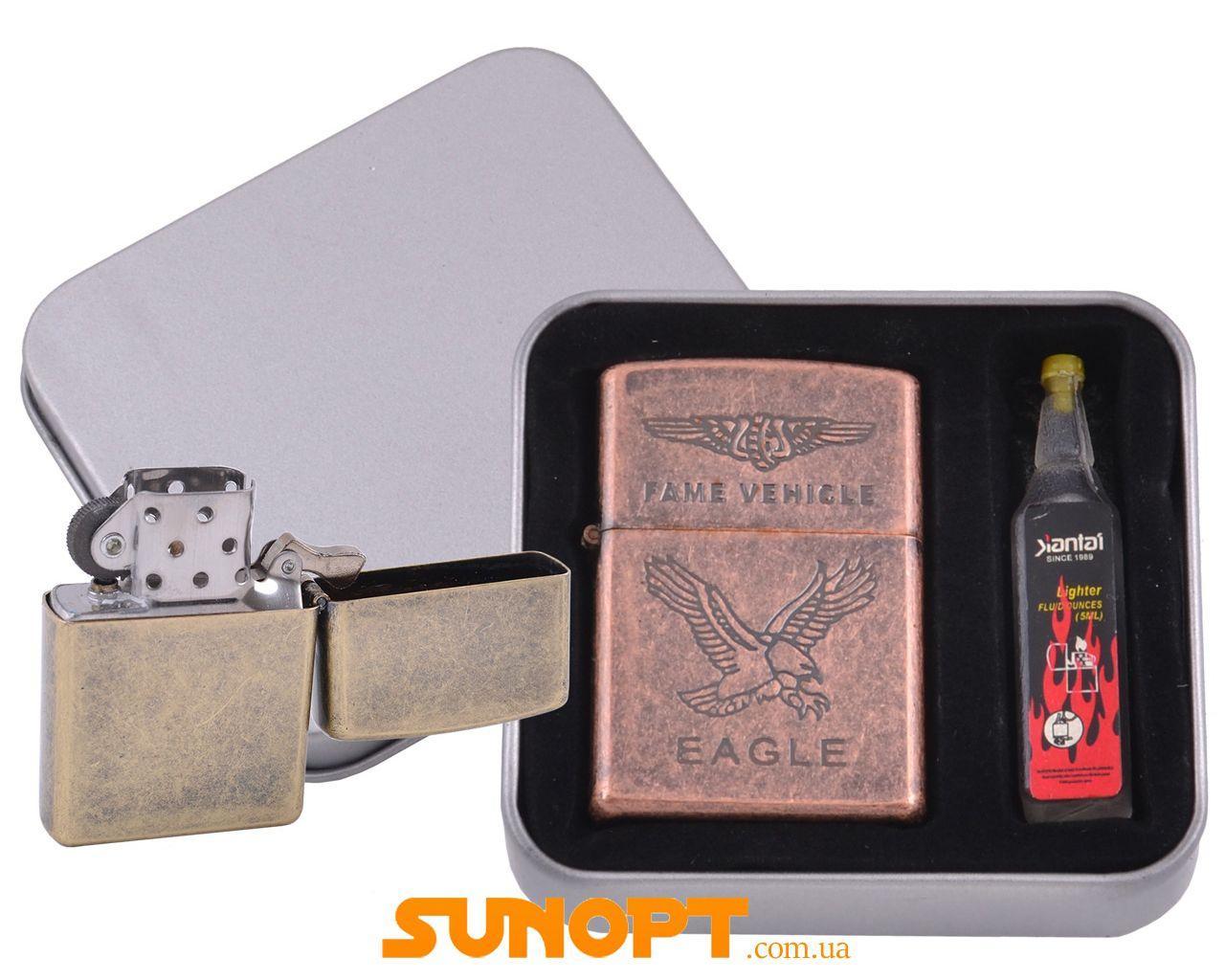Зажигалка бензиновая в подарочной коробке + баллончик бензина EAGLE №XT-3864-3