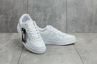 Женские демисезонные кеды Nike Air Force Classik белые топ реплика