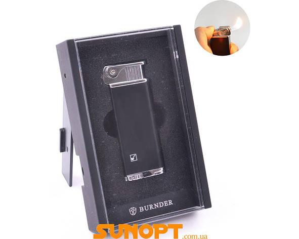 Зажигалка в подарочной упаковке (Обычное пламя) №BR-215 Black, фото 2