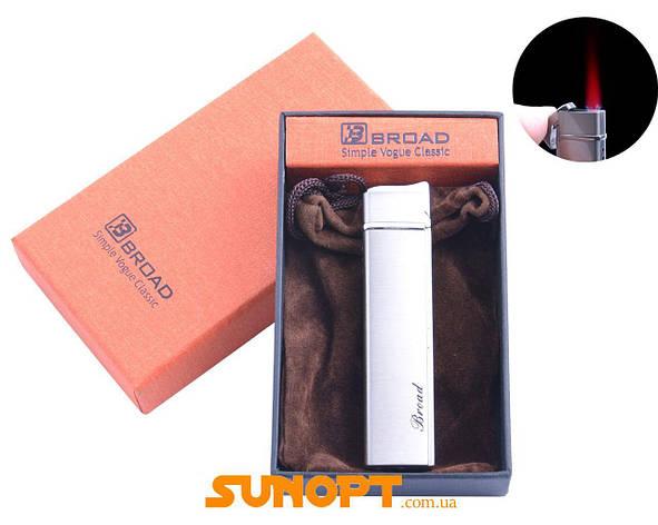 Зажигалка в подарочной упаковке BROAD (Турбо пламя) №4471 Silver, фото 2