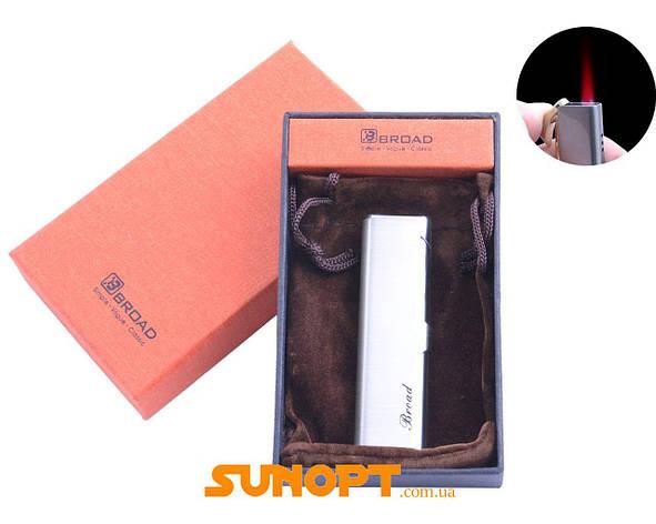 Зажигалка в подарочной упаковке Broad (Турбо пламя) №XT-4679 Silver, фото 2