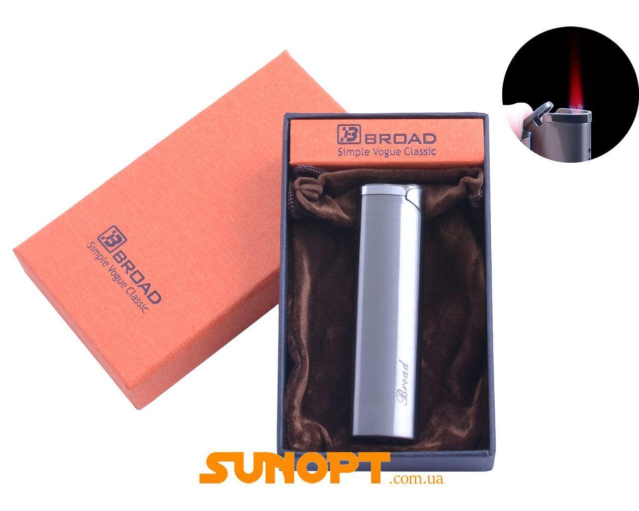 Зажигалка в подарочной упаковке Broad (Турбо пламя) №XT-4681 Black