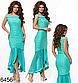 Вечернее платье открытые плечи (красный) 826457, фото 3