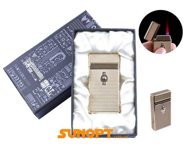 Зажигалка в подарочной упаковке CHEN LONG (Турбо пламя) №XT-4055 Gold, фото 2
