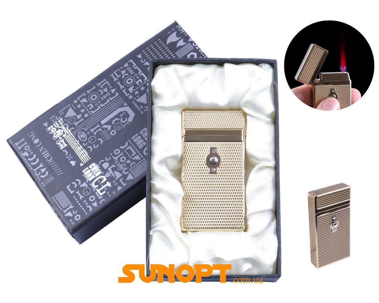 Зажигалка в подарочной упаковке CHEN LONG (Турбо пламя) №XT-4055 Gold